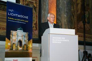 Günter Wehner, 2. Vorsitzender der LiTG Südbayern, Mitveranstalter der Lichtwoche München