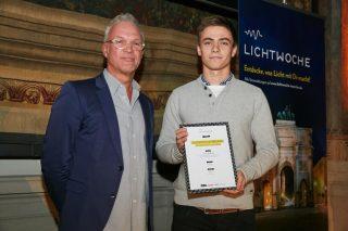 Der 3. Preis ging an Lukas Obkircher (TU München) für die Lichtsteuerung »OLUMI«. Das Preisgeld beträgt 500,- Euro und wurde gesponsert von Wibre